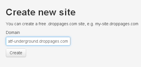 add site on droppages