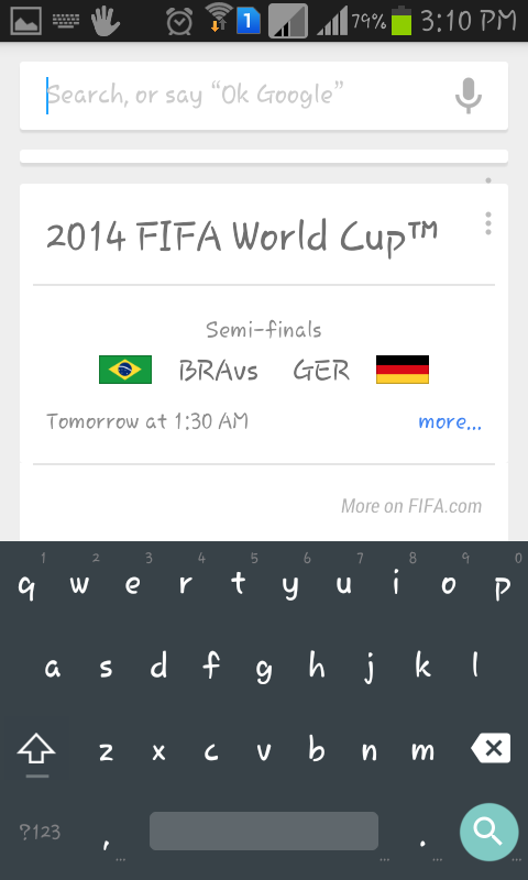 android L keyboard screenshot