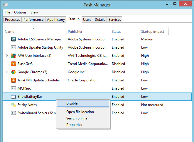 Speed up PC Boot time by Disabling some Startup programs