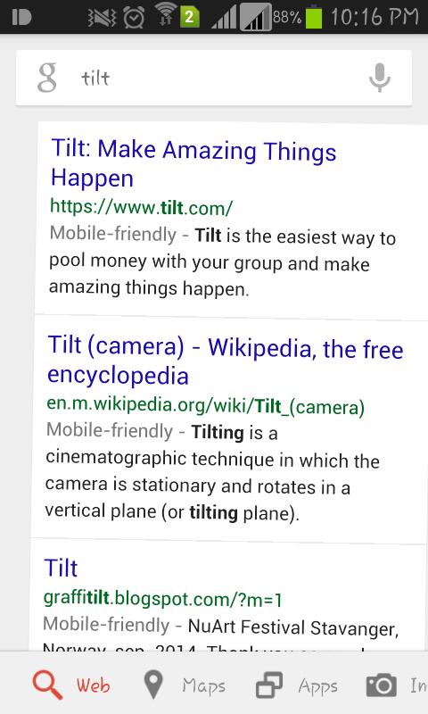 google-tilt-webpage