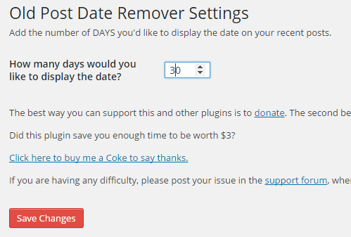 remove dates wordpress