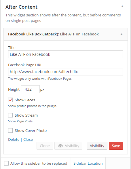 facebook-widget-configuration