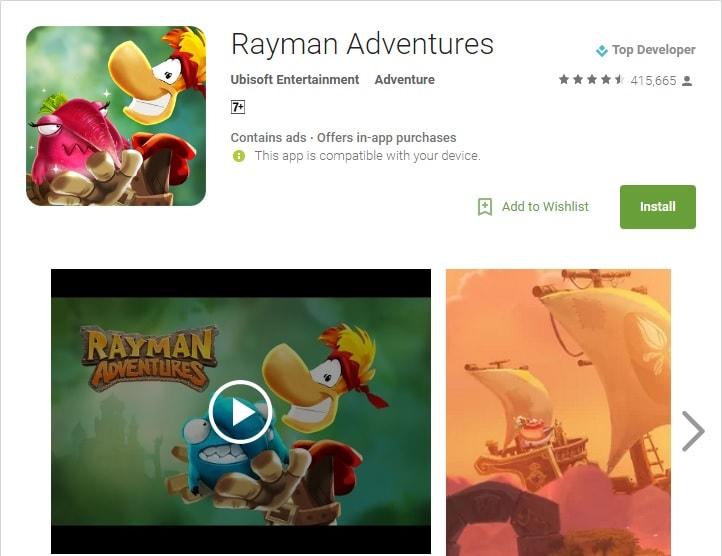 Super Mario Run alternatives rayman adventures