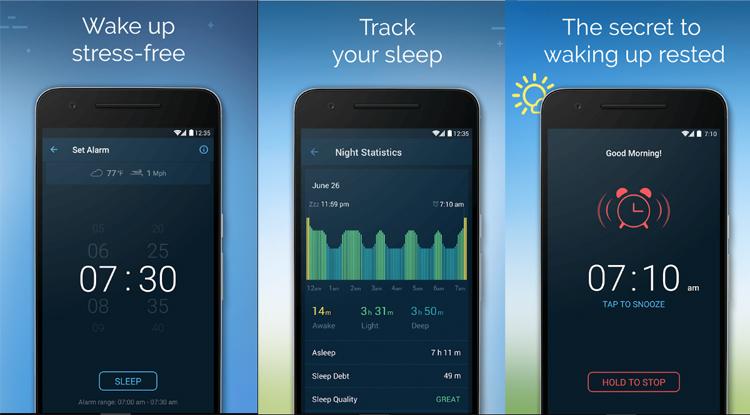 sleep tracking app good morning