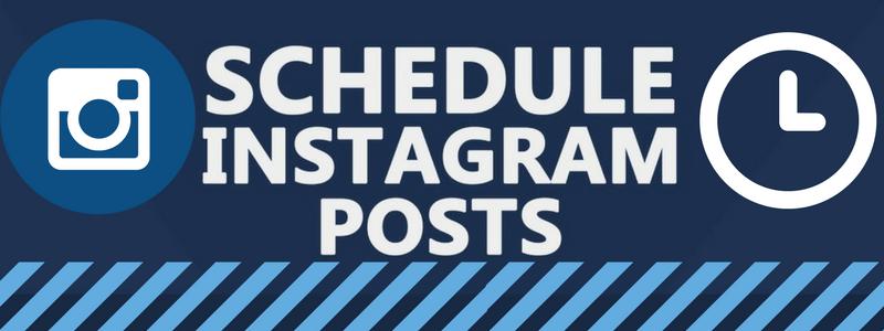 schedule instagram posts header