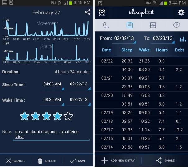 sleep tracking apps sleepbot