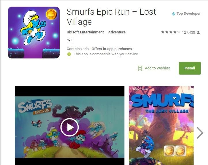 super mario run alternatives smurfs