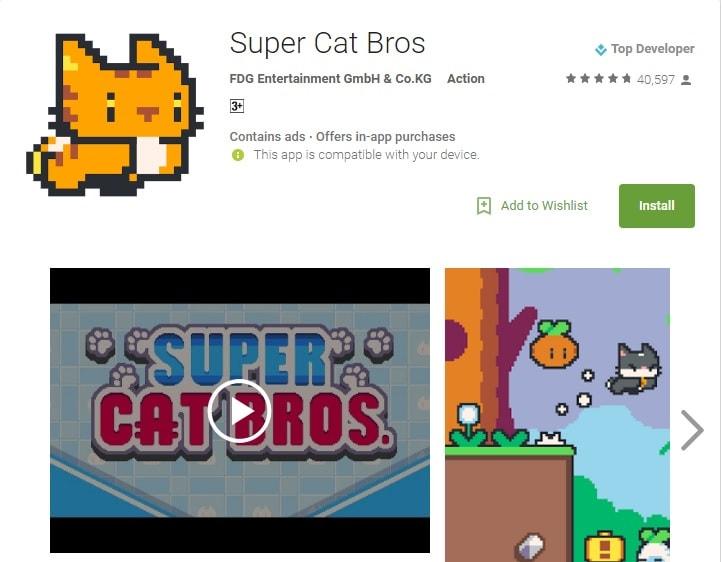 super mario run alternatives super cat bros
