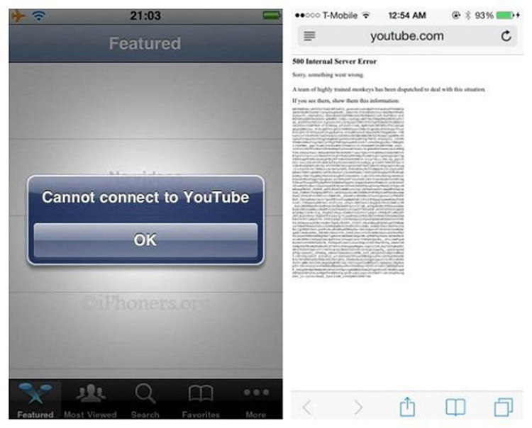 YouTube App not working on iPhone
