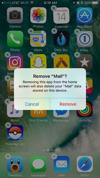 delete iPhone apps apple store
