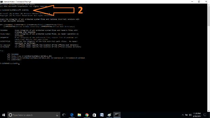 optimize microsoft edge browser-sfc-scannow-command