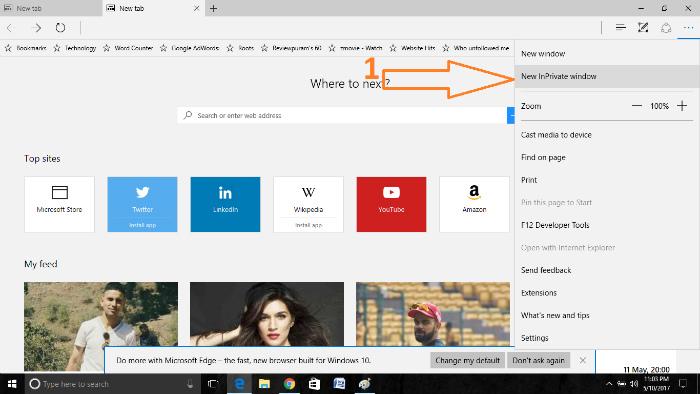 optimize microsoft edge browser inprivate-mode