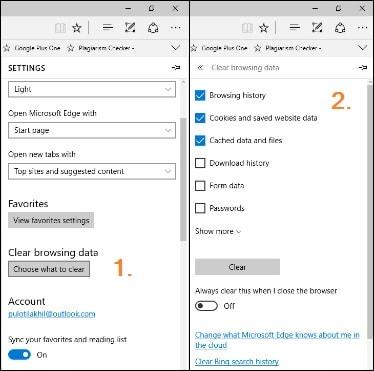 optimize microsoft edge browser history